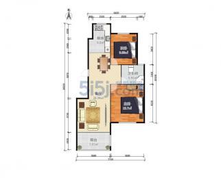 天华绿谷 南北通透两房 户型方正 新空毛坯 总价低 电梯房