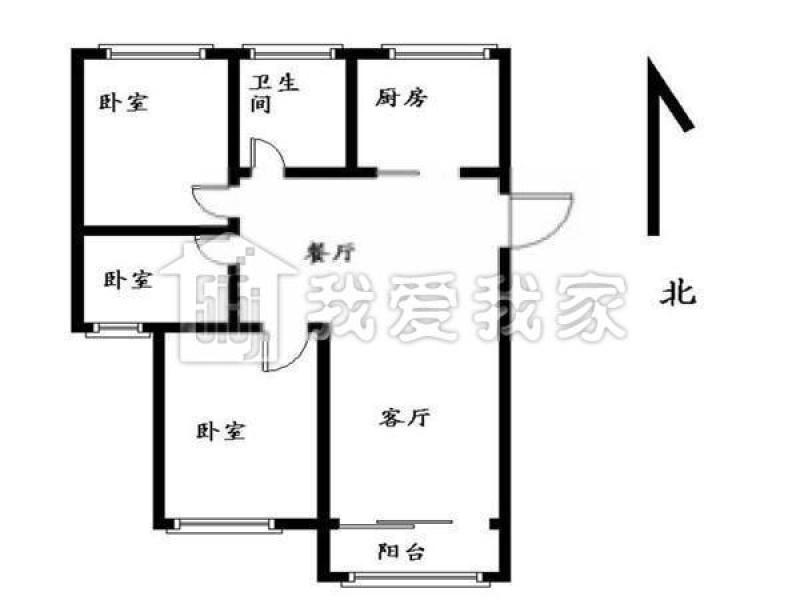 建邺区奥体双和园3室2厅户型图