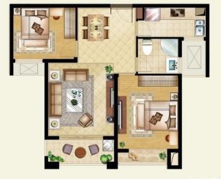 莱蒙水榭阳光 精装三房 中央空调带地暖 自住装修 拎包入住