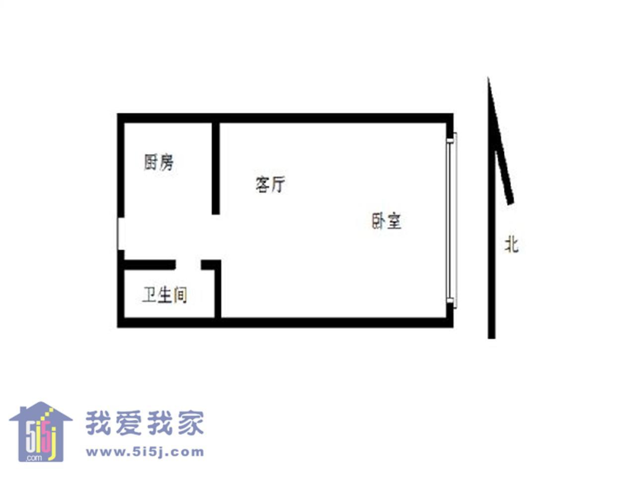 鼓楼区龙江摩尔特区1室1厅户型图