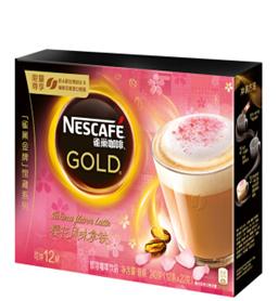 雀巢樱花拿铁即溶咖啡