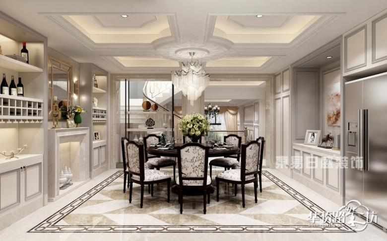 【东易日盛装饰】伴山香槟园320平别墅现代简约风格装修案例赏析