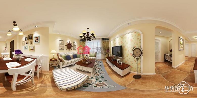 朗诗未来街区83平三室两厅简约风格装修效果图