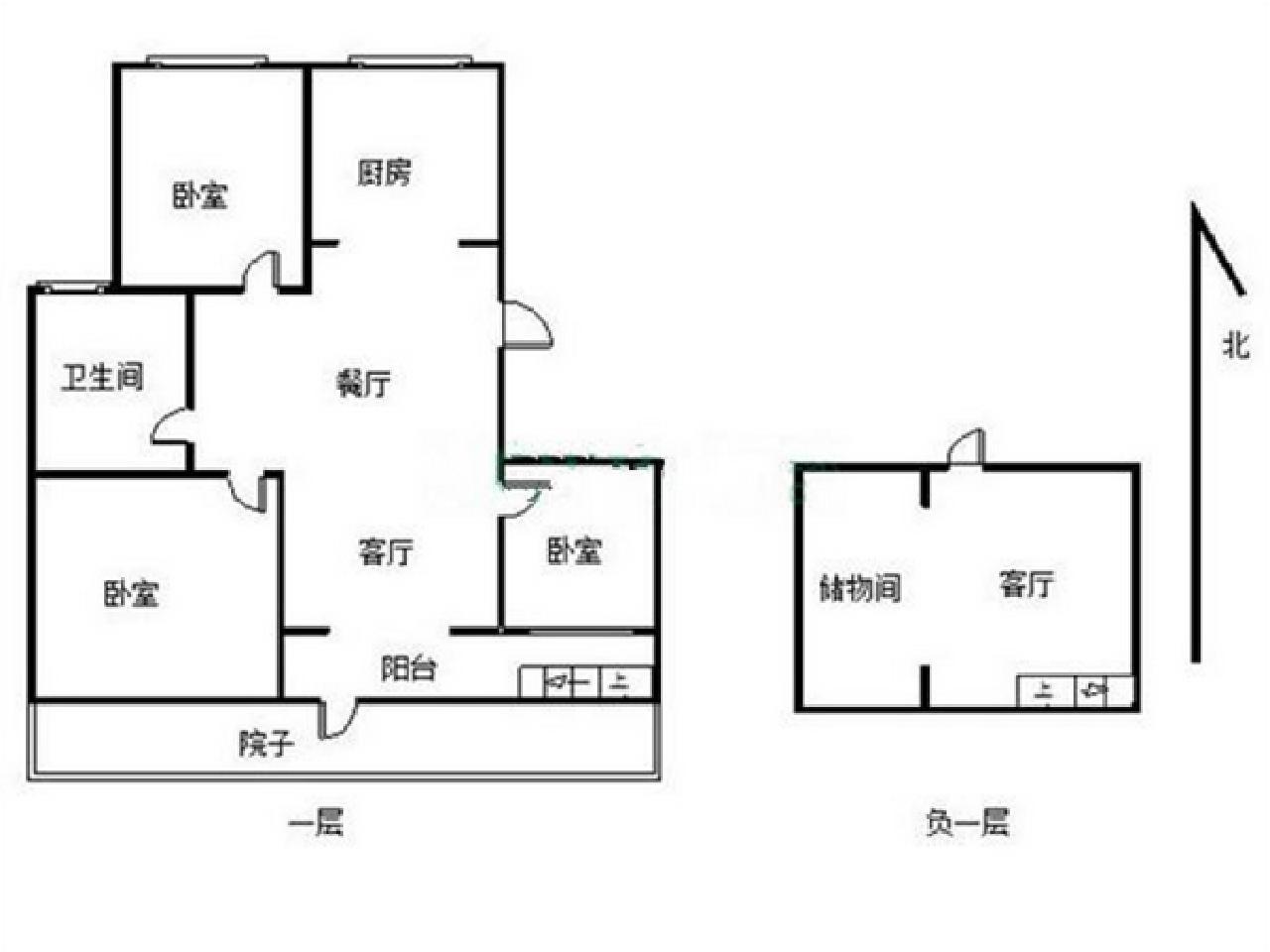 玄武区孝陵卫中冶钟鼎山庄3室2厅户型图