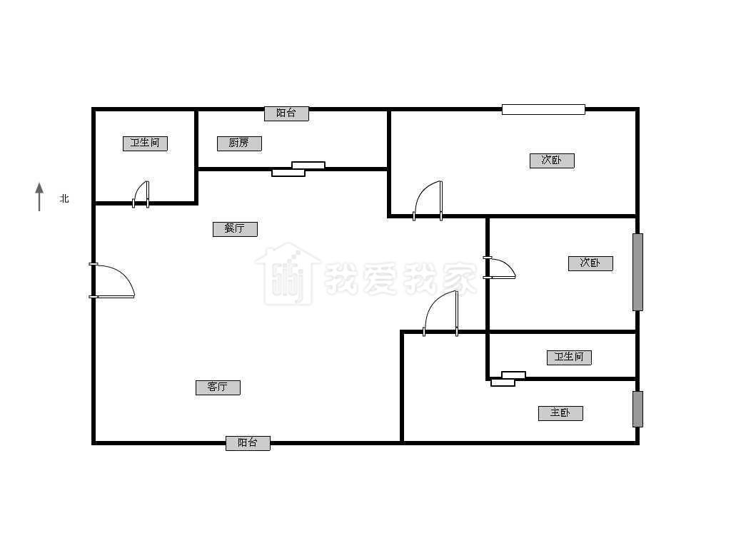 江宁区百家湖高尔夫国际花园3室2厅户型图