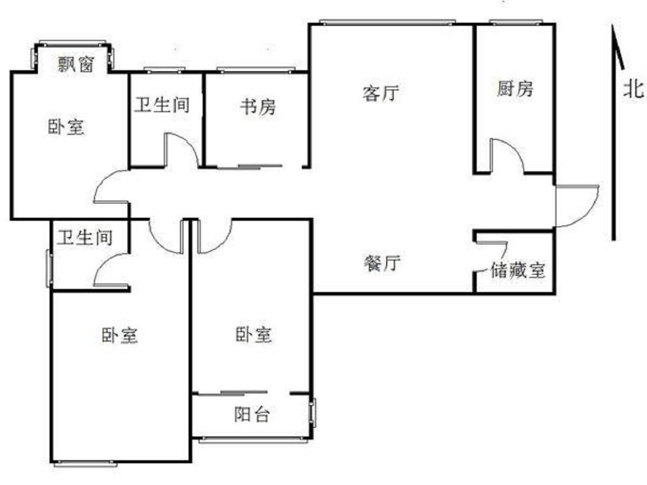 栖霞区仙林亚东城西区3室2厅户型图